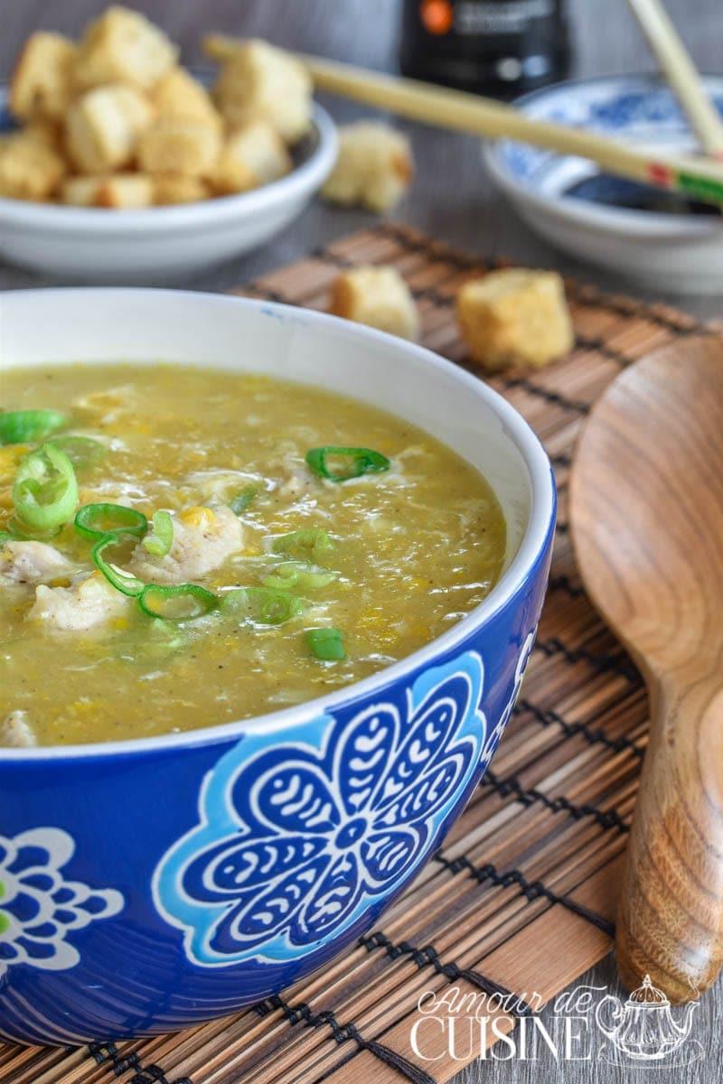 soupe chinoise au poulet et maïs 2