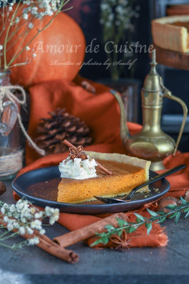 pumpkin pie, tarte au potiron