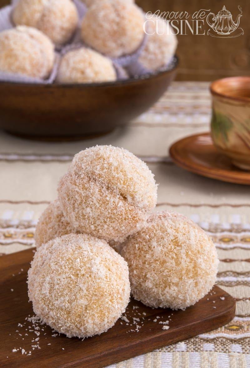 boules de noix de coco à la confiture 1