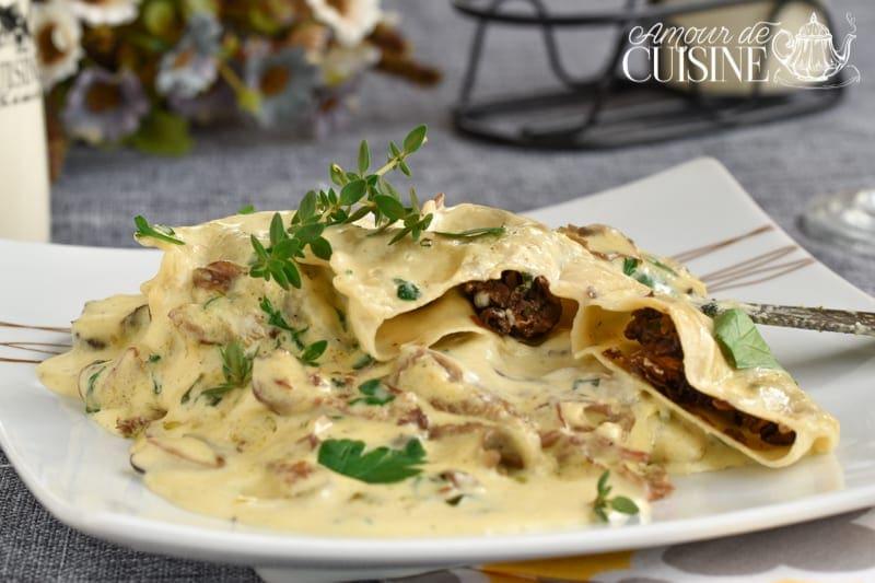 raviolis aux cèpes à la crème aux champignons 2