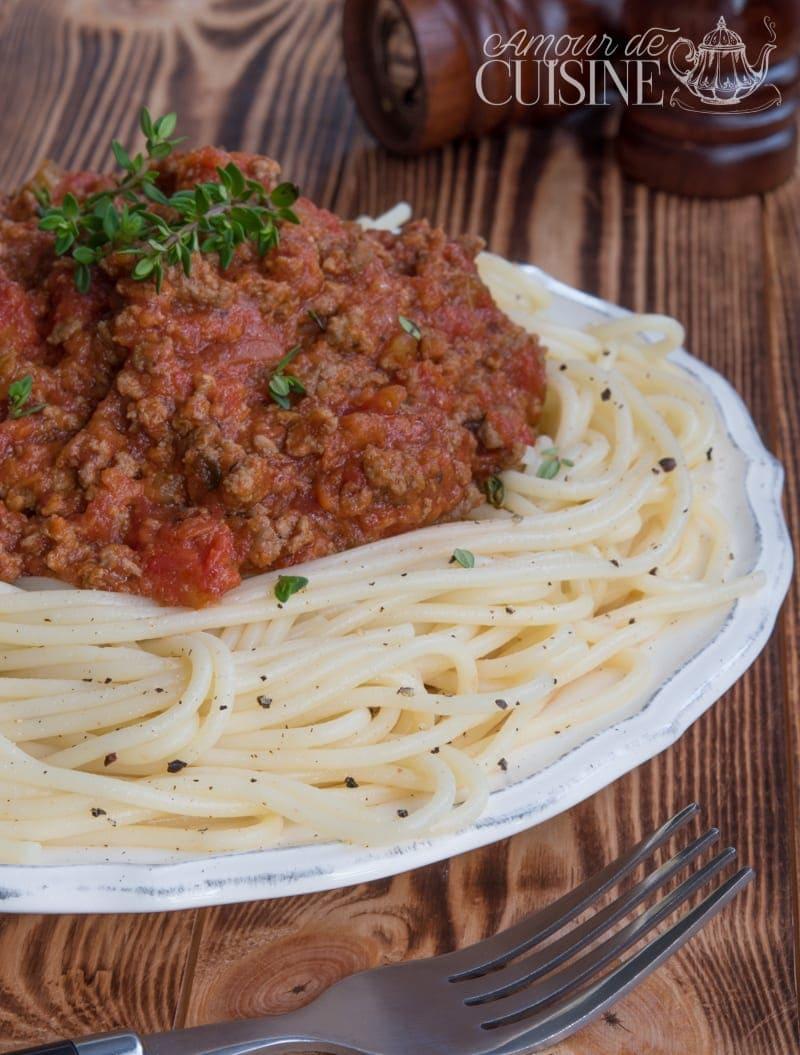 spaguettis a la sauce bolognaise 1