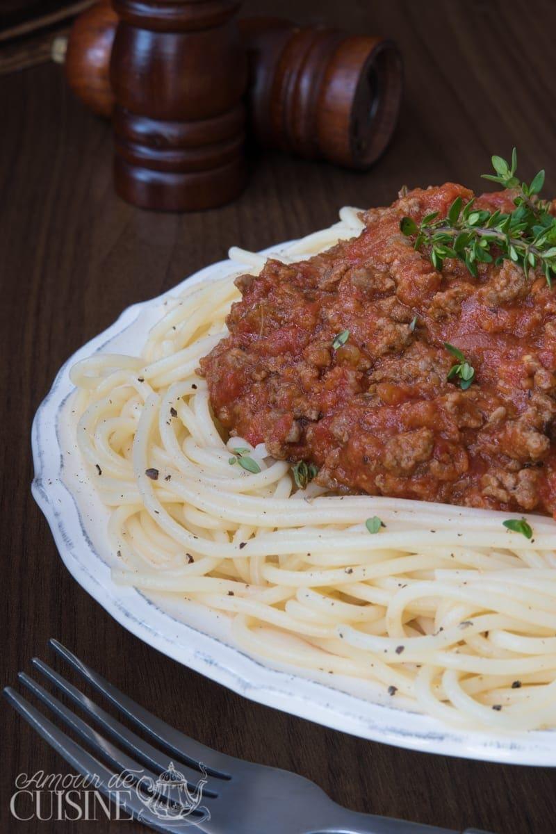 spaguettis a la sauce bolognaise 2