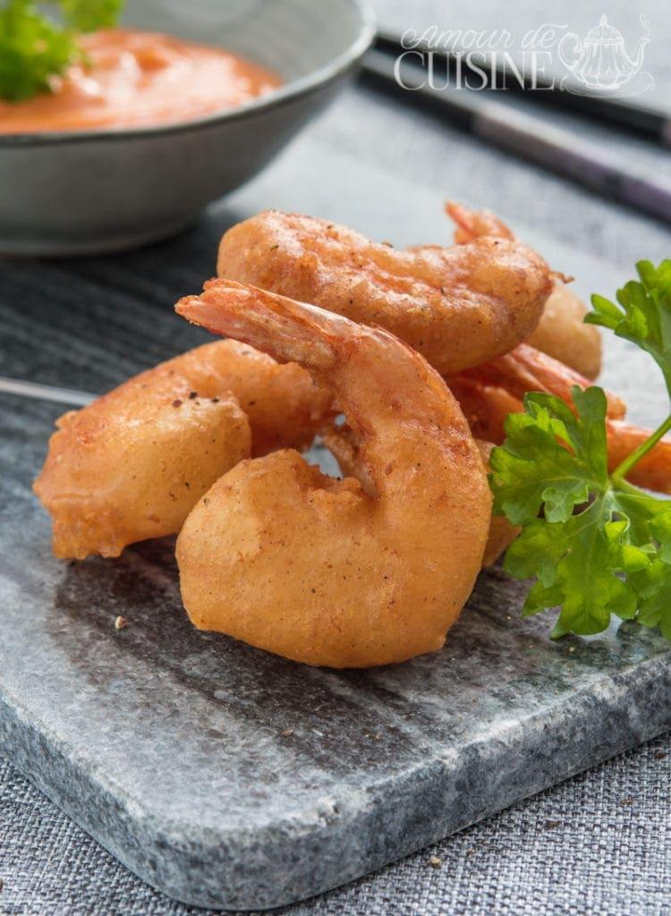 recette de beignets de crevettes
