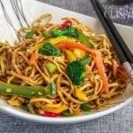 Recette nouilles chinoise sautées aux légumes 2