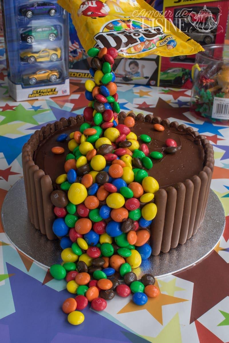 le gravité cake, gateau d'anniversaire 2