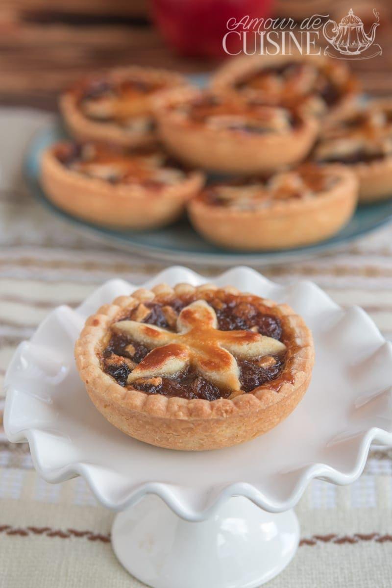 mincemeat pie, tartelettes anglaises aux pommes et raisins 2