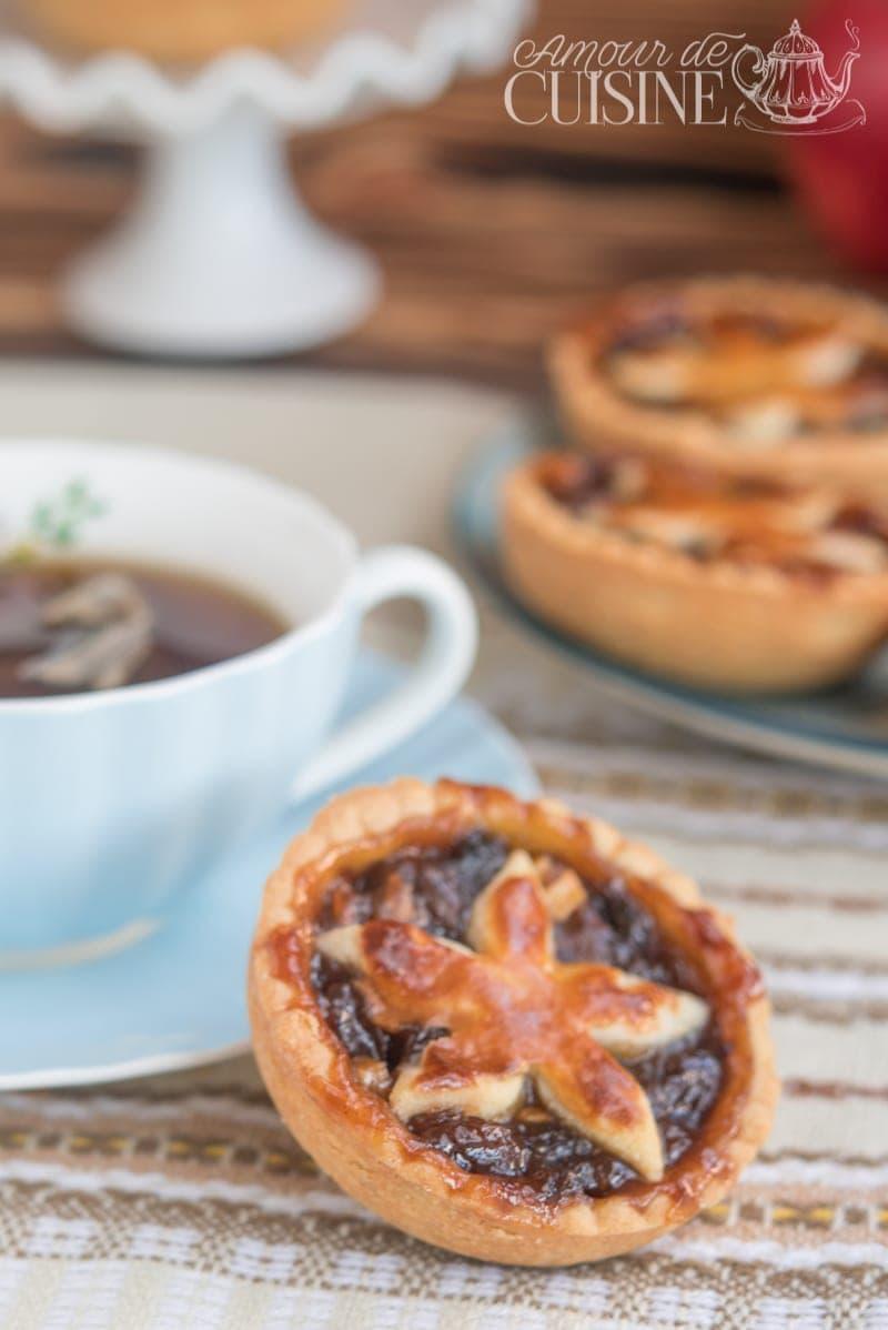 mincemeat pie, tartelettes anglaises aux pommes et raisins secs 1