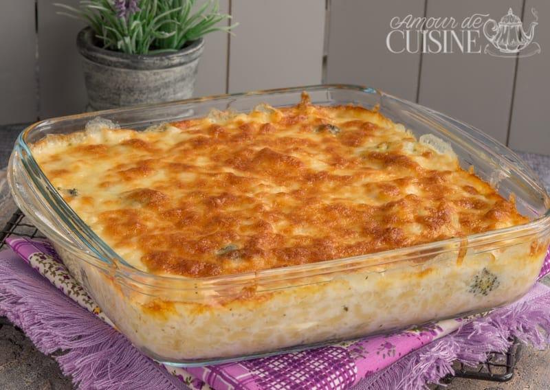 gratin de pâtes et brocolis à la sauce béchamel 1