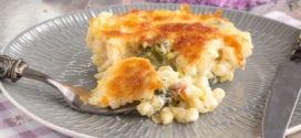 gratin de pâtes et brocolis à la sauce béchamel