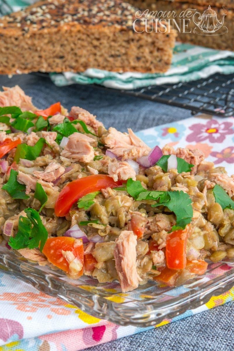salade froide aux lentilles verts amour de cuisine On 1 amour de cuisine