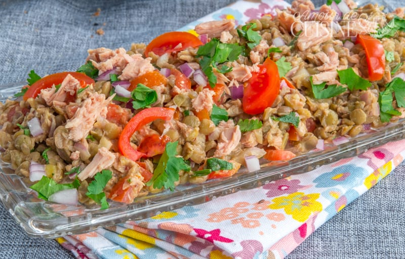Salade froide aux lentilles verts amour de cuisine for Amour de cuisine de soulef