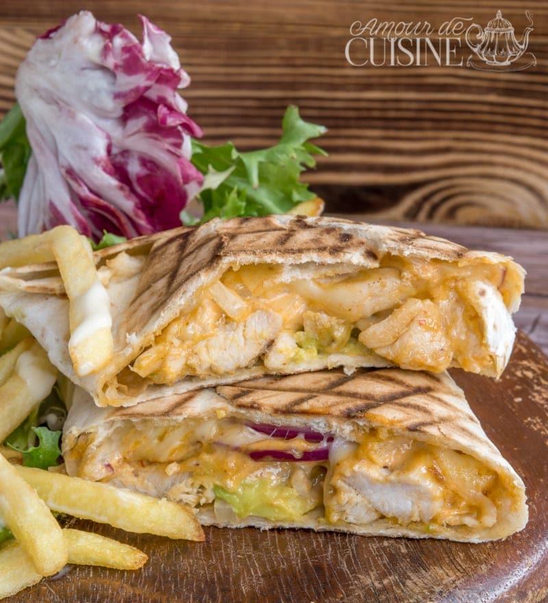 tacos au poulet à la sauce algérienne 1