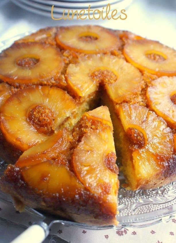 gateau renversé à l'ananas facile