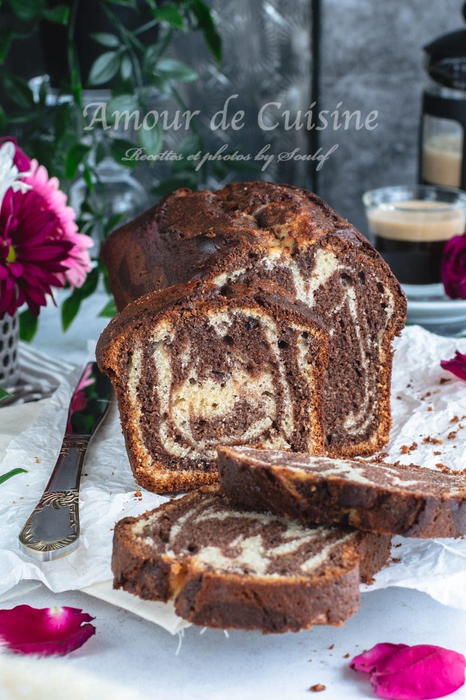 cake marbré fondant