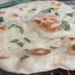 naans a la coriandre, pain indien
