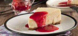Cheesecake New-yorkais avec son coulis de fraises