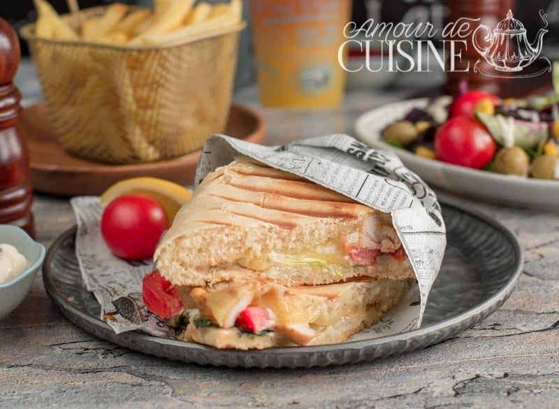 Recette des sandwichs pain à panini maison au poulet