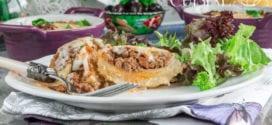 gratin de coeurs d'artichauts à la viande hachée