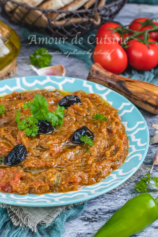 Zaalouk d'aubergines cuisine marocaine
