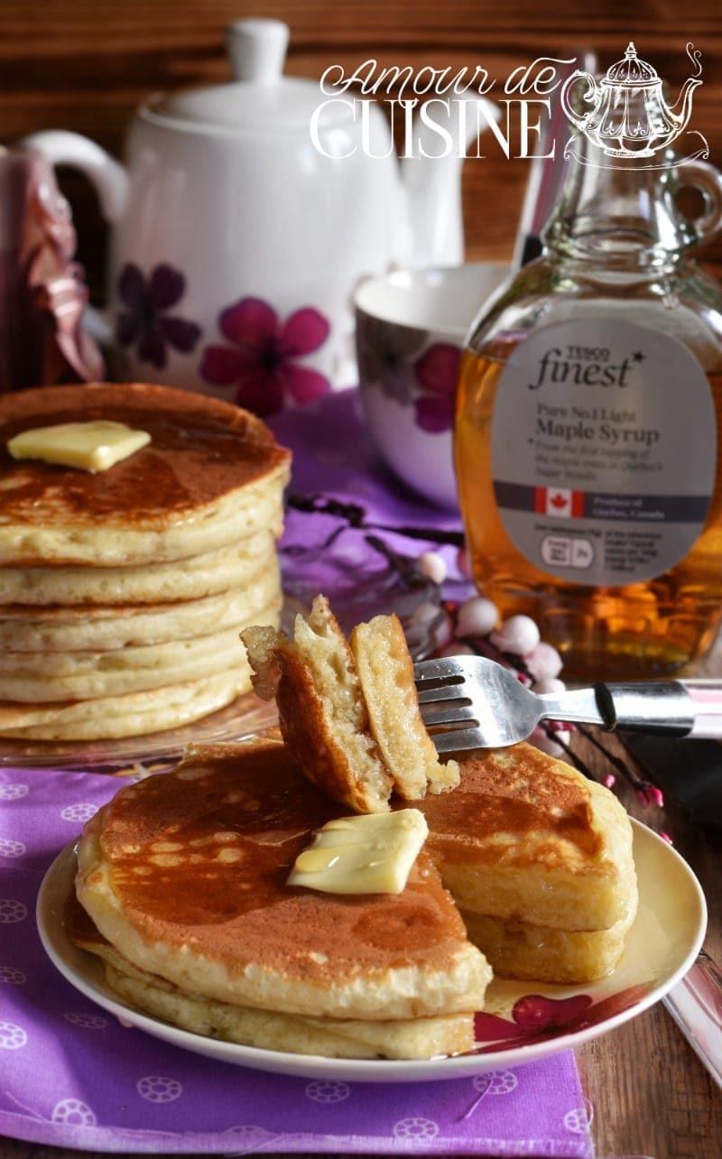 recette des pancakes au babeurre, lben ou buttermilk 1