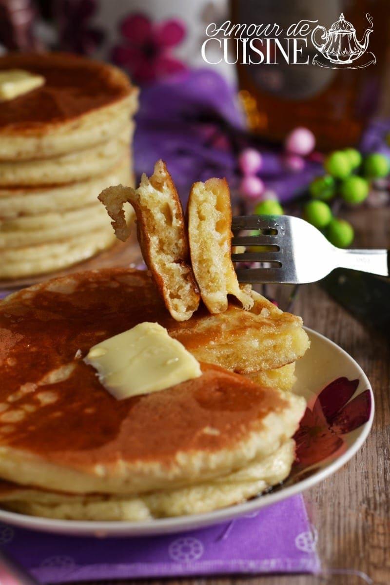 recette des pancakes au babeurre, lben ou buttermilk