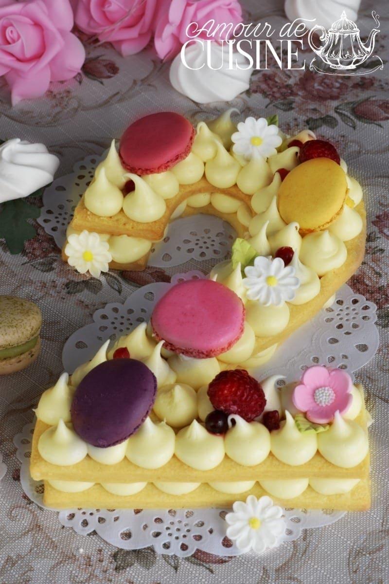 le Number cake, gateau d'anniversaire tendance