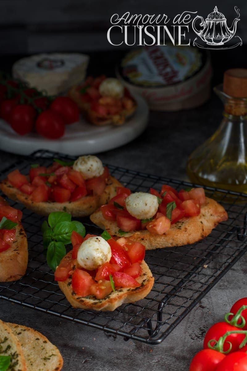 Bruschetta italienne à la tomate 2