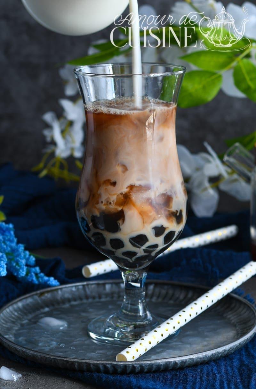 recette de bubble tea maison