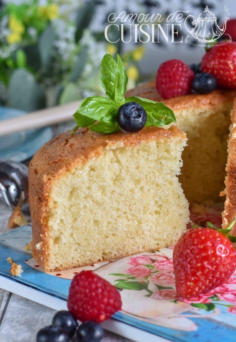Recette de gâteau moelleux à la vanille
