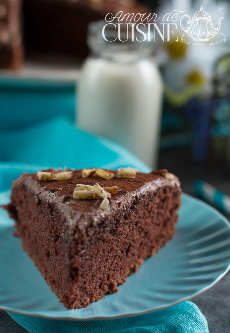 gateau sans oeuf au cacao