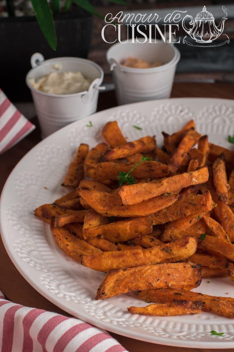 Recette frites de patate douce au four