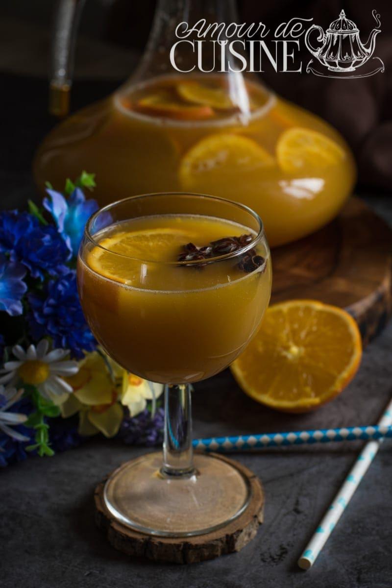 punch sans alcool à l'orange