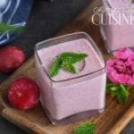 Soupe froide aux radis roses