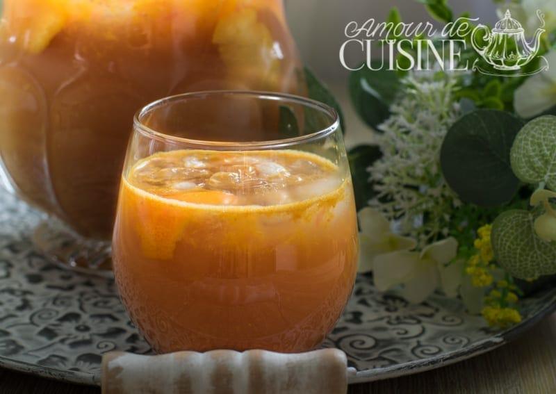 spritz sans alcool orange et pamplemousse