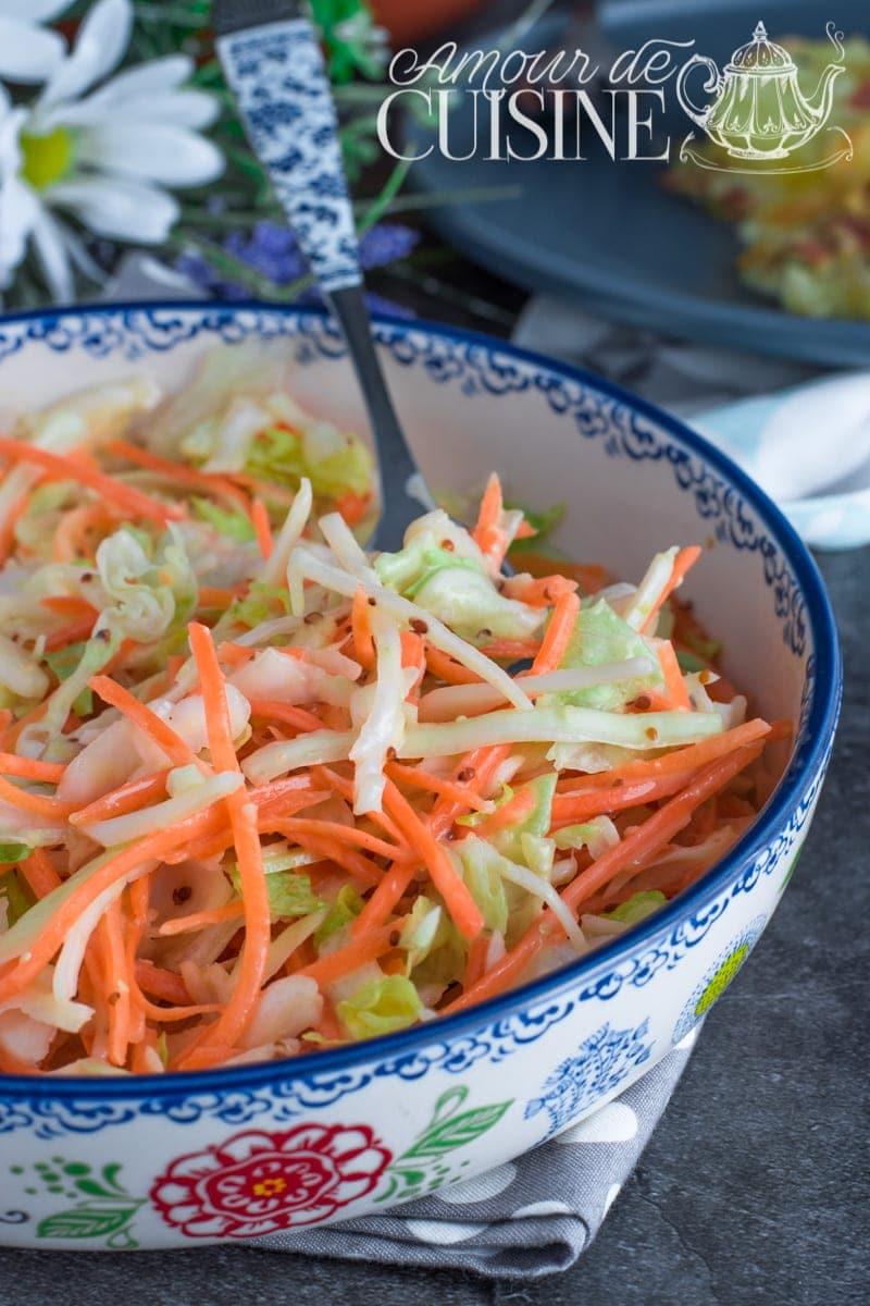 recette coleslaw salade de chou facile