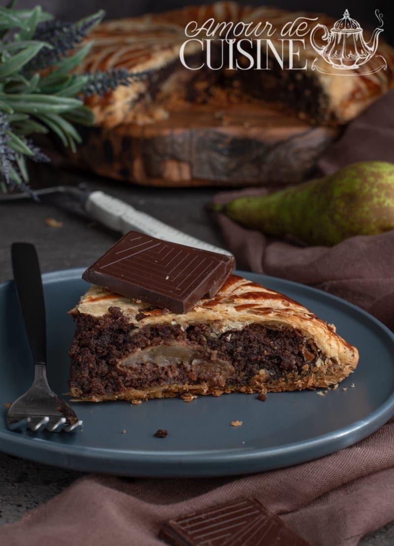 galette des rois au chocolat et poires