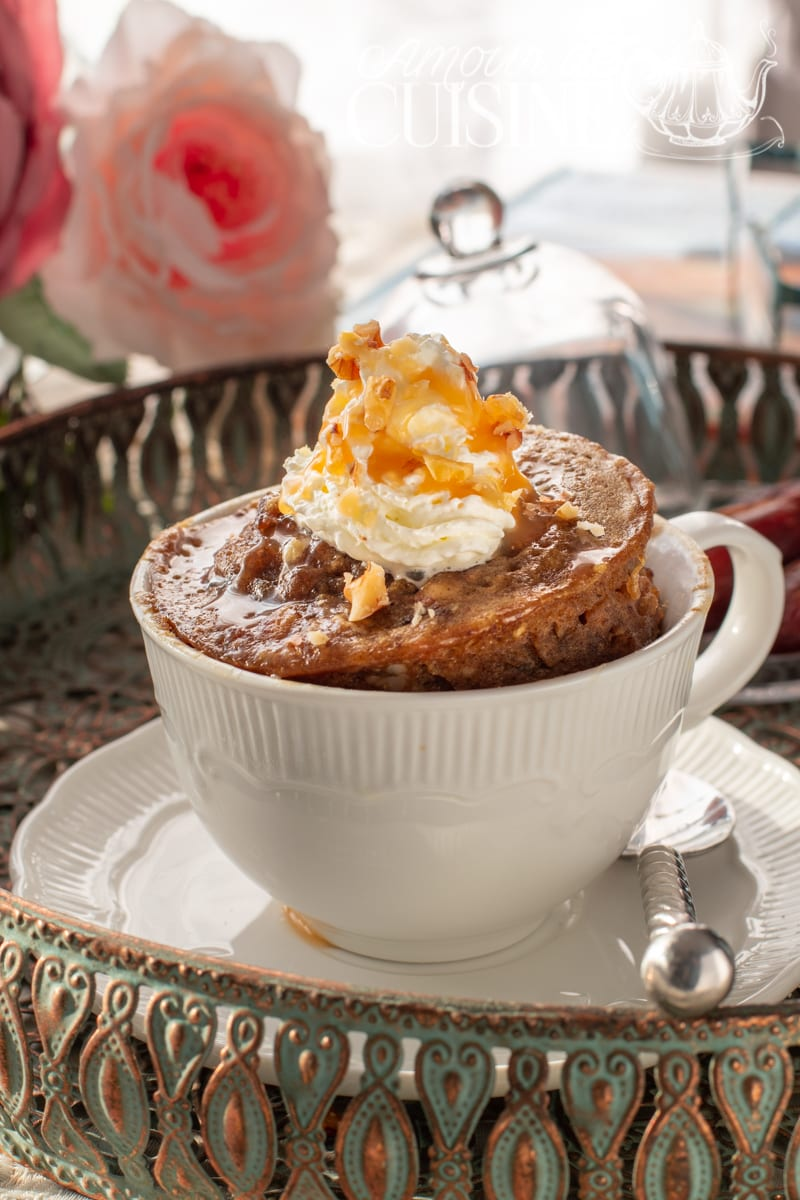mug cake aux dattes et caramel