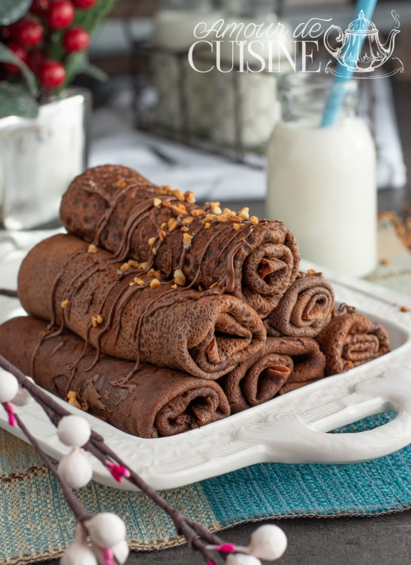 crêpes roulées au Nutella et pralin