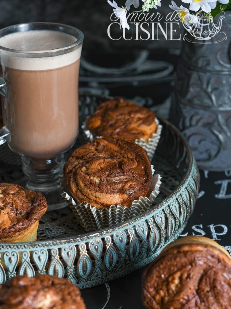 Muffins marbrés au Nutella