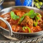 curry de kofta, ou curry aux boulettes de viande hachée