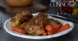 diner facile et rapide à la poêle- cuisses de poulet aux légumes