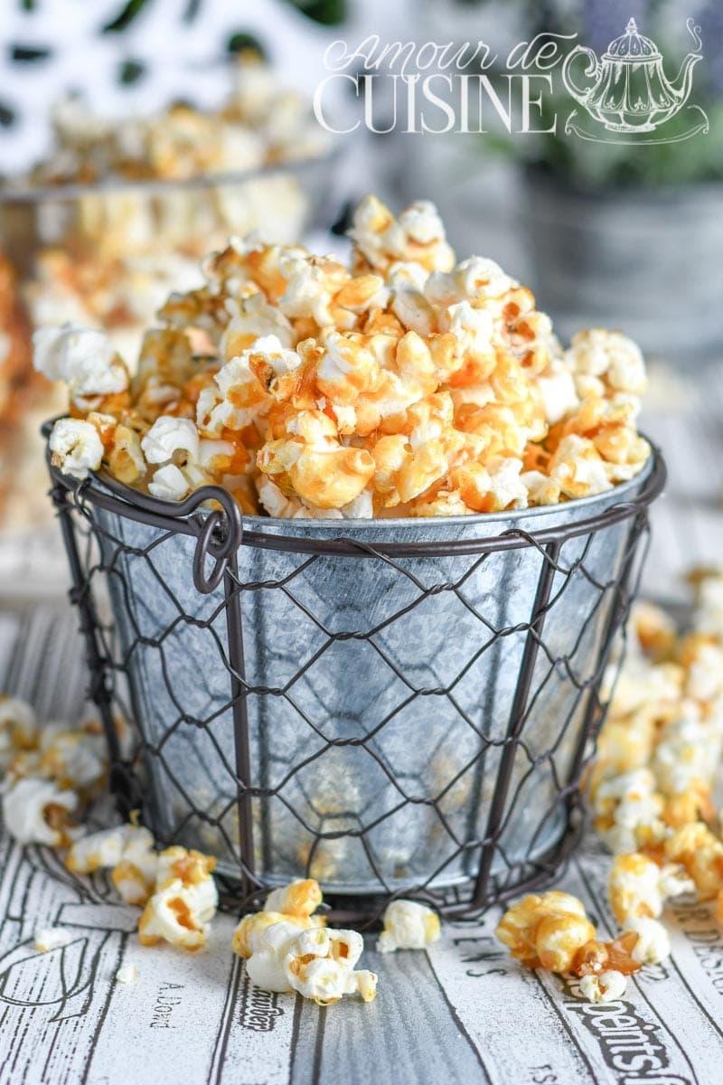 recette de popcorn au caramel beurre salé (pop corn)