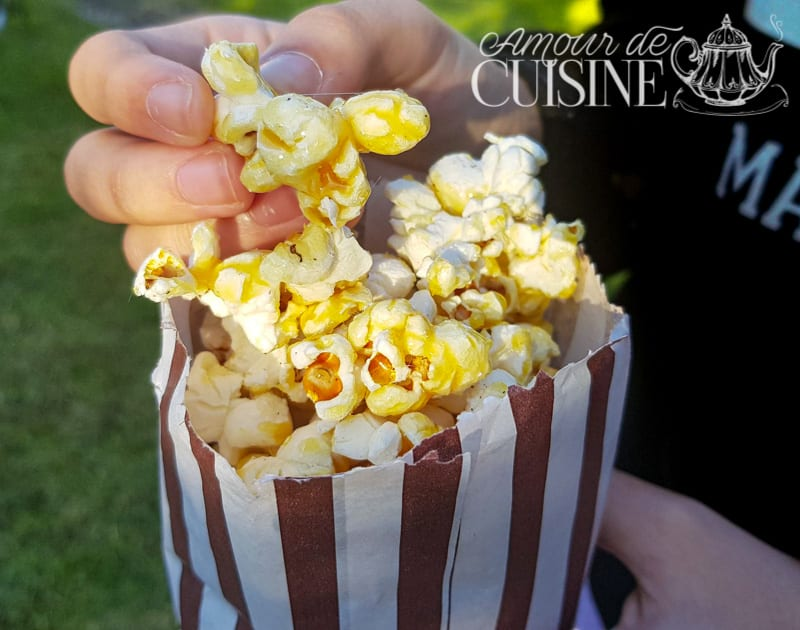 recette de popcorn au caramel, ou pop corn sucré