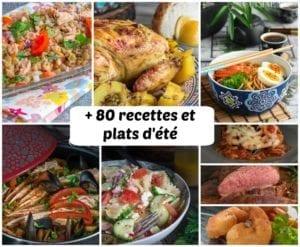 idée recettes d'été menu 4 semaines