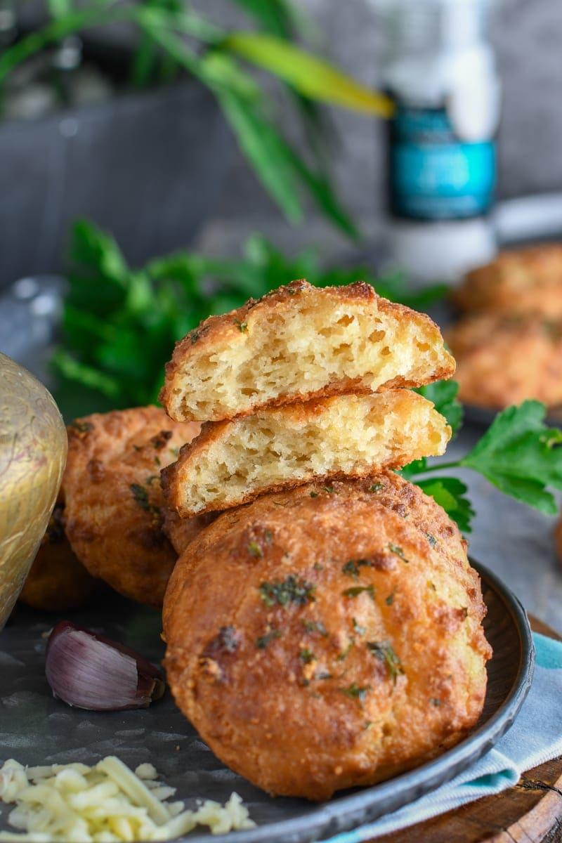 biscuits salés au cheddar et ail