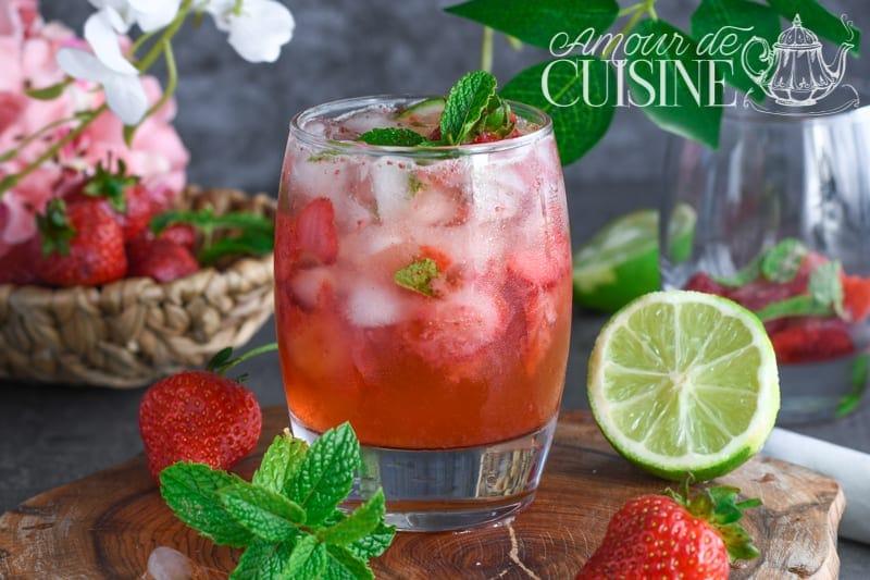 mojito aux fraises sans alcool