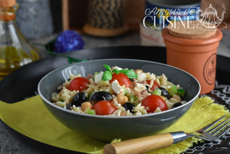 salade composée de risoni au thon