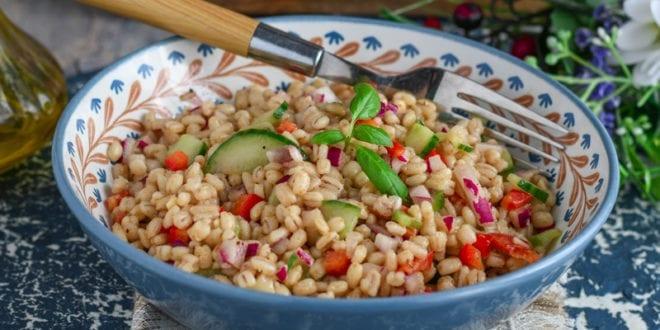 salade composée d'orge au vinaigre balsamique 2