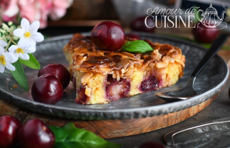 Toscakaka aux cerises ou tosca cake