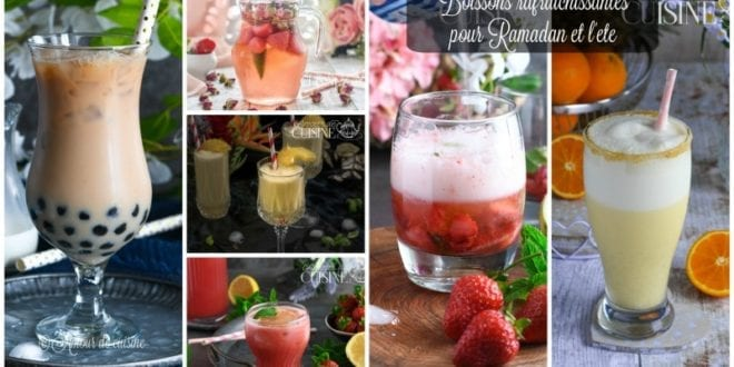 boissons rafraîchissantes: limonade, jus, smoothie